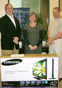 Terry won our Superbowl Samsung 42 inch Plama TV!
