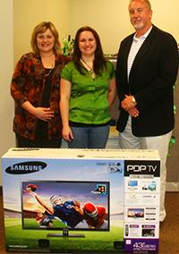 """Shawn won our 43"""" Samsung Plasma HD TV!"""